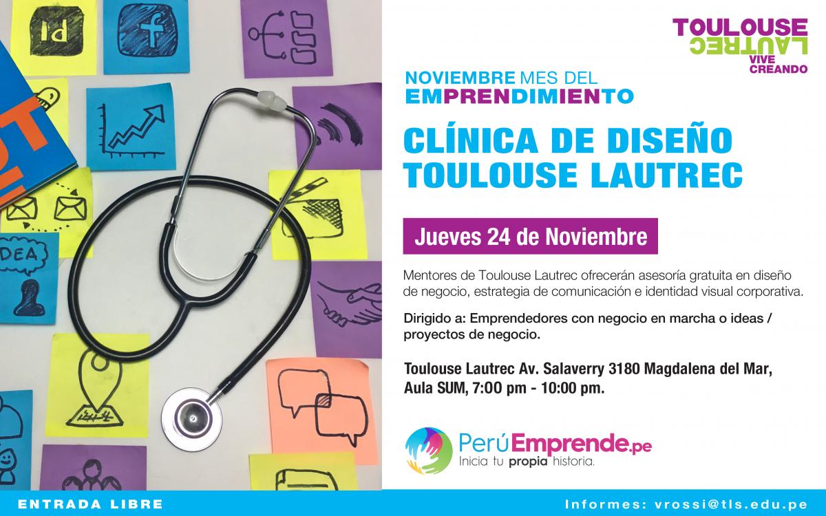 Toulouse lautrec invita a todos los emprendedores a la clínica de diseño