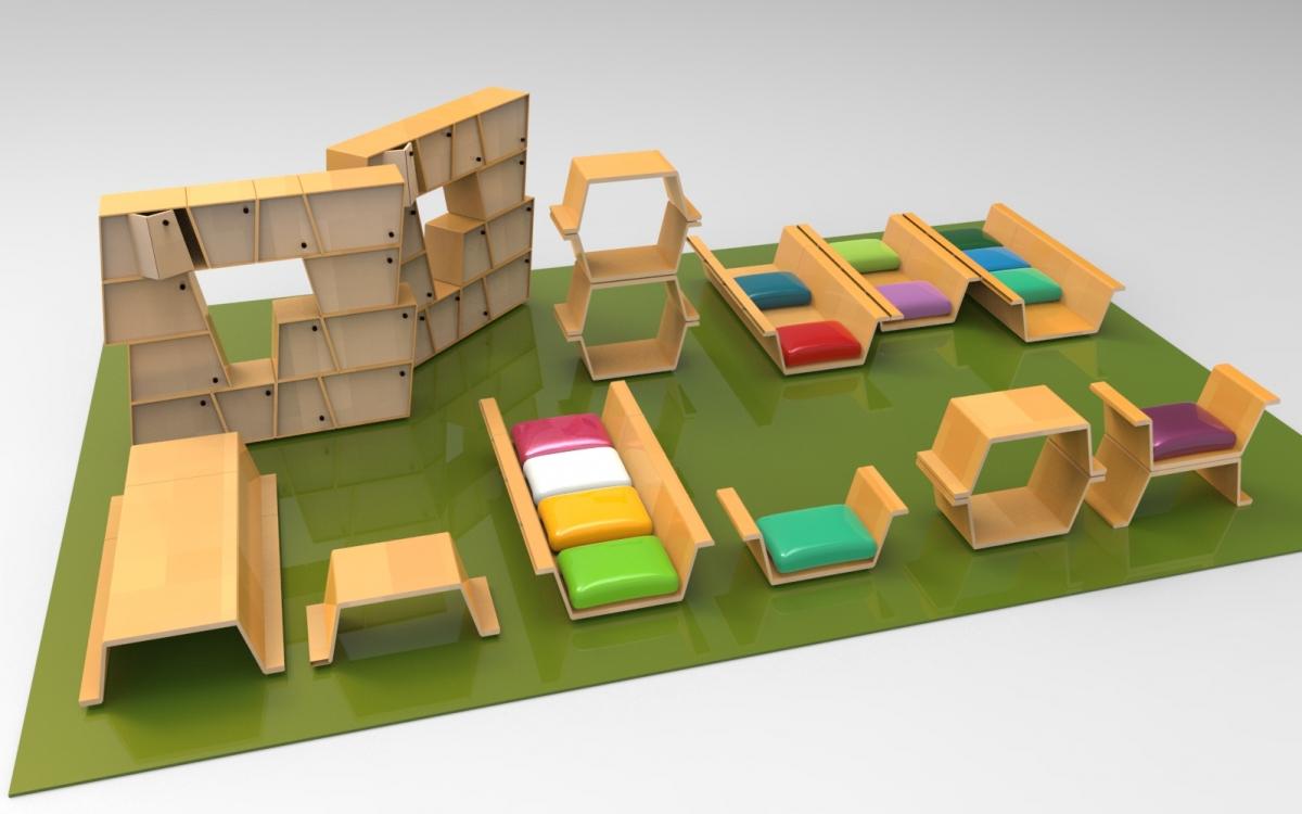Jóvenes de Toulouse Lautrec y UTEC crean mobiliario funcional para instituciones educativas